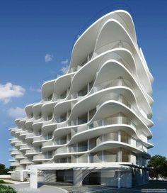 Wave design : Heritage Design Hotel - Rio de Janeiro I've got rhythm. Hotel Design Architecture, Organic Architecture, Futuristic Architecture, Facade Architecture, Contemporary Architecture, Amazing Architecture, Residential Architecture, Unique Buildings, Amazing Buildings