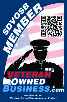 New Service Disabled Veteran Owned Small Business (SDVOSB) Member Vertical Badge