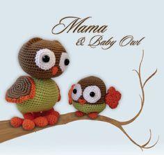 Pepika Amigurumi Pattern - Mama and Baby Owl