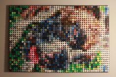I made this out of paint samples using a hole punch from Hobby Lobby. Paint Sample Art, Paint Chip Art, Paint Samples, Paint Chips, Art Crafts, Arts And Crafts, Punch Art, Hole Punch, Hobby Lobby
