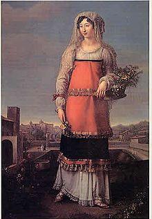 Carlotta Bonaparte ,figlia di Luciano, principe di Canino. n.1795+1865.Nel 1815 si sposò con Mario Gabrielli con cui ebbe 8 figli