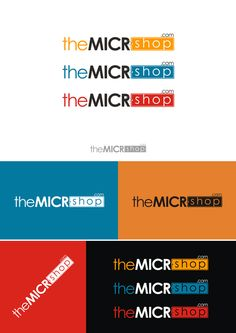 Create a clean capturing logo for theMICRshop.com by Fauziyyah