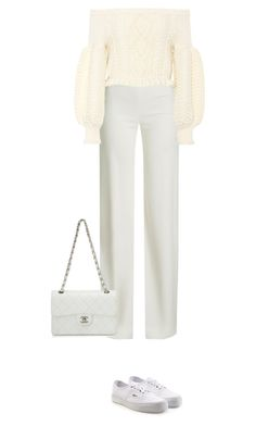 """""""6.178"""" by katrinattack ❤ liked on Polyvore featuring Vans, Brandon Maxwell, Valentino, Chanel, white, polyvorefashion and awhiteaffair"""