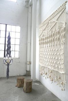 article-image - Sally England's ceiling-to-floor hangings, based in Portland, Oregon