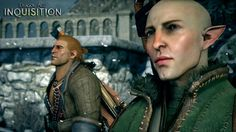 Varric and Solas http://knight-enchanter.tumblr.com