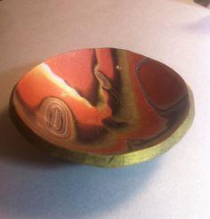 """Mokume Gane trinket bowl in polymer clay...""""nanmade"""" week 44"""
