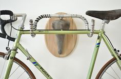 Hunting Trophies: Repurposed Vintage Bike Parts Converted into Functional Taxidermy Racks http://www.thisiscolossal.com/2014/02/hunting-trophies/