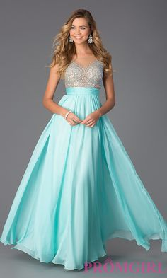 Prom Dresses, Celebrity Dresses, Sexy Evening Gowns: Floor Length Embellished Chiffon Prom Dress
