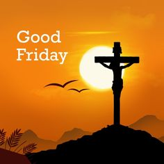 May you be blessed with the goodness of Good Friday.Have a blessed Good Friday! Holy Friday, Holy Saturday, Photoshop, Good Friday Images, Crucifixion Of Jesus, Jesus Christ, Easter Backgrounds, Religious Cross