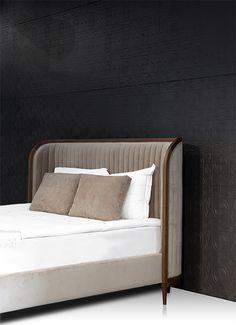 MANHATTAN | Bed By Mobi Bed Headboard Design, Bedroom Bed Design, Room Ideas Bedroom, Headboards For Beds, Best Leather Sofa, Leather Bed, Bed Back Design, Drawing Room Interior Design, Bedroom Furniture