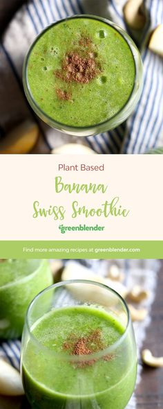 Banana Swiss on Green Blender