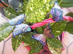 papillons, recyclage bouteilles pastique