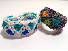 Rainbow Loom TRIANGLE BURST Bracelet. Designed and loomed by Epic Bracelets. Click photo for YouTube tutorial. 04/08/14.