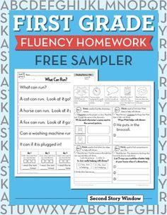 This is a free sampler of Kindergarten Fluency Homework. It contains 5 weeks of homework. There are 10 pages included in the sampler. There is an example of 5 levels of passages included in our First Grade Fluency Homework. Each week contains: 2 pages (copy double sided) 1 leveled passage for daily reading 4 days of short close reading activities Parent TipsPage 1-2Reading Level APage 3-4Reading Level BPage 5-6Reading Level CPage 7-8Reading Level DPage 9-10Reading Level…