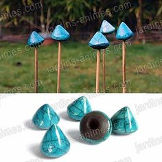Protect your eyes while gardening near poles Raku Pottery, Wind Chimes, Place Card Holders, Outdoor Decor, Crafts, Garden Ideas, Gardening, France, Gardens