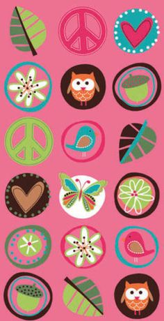 Hippie Chick Paper Treat Bags (8) Favor Loot Peace Owl Girl Birthday Party