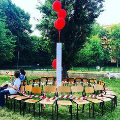#laculturanonrestaseduta #istallazione #school #school #day #milanodavedere #Rho #terrazzanoschool # by mccreazioni