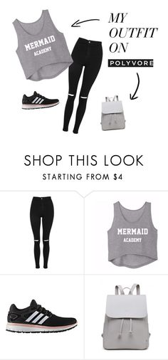 """casual fridays"" by aneishascotland on Polyvore featuring Topshop and adidas"