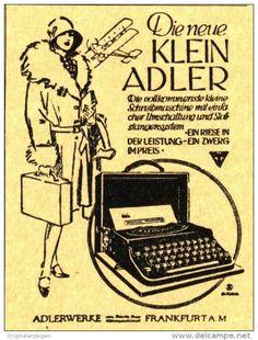 Original-Werbung/ Anzeige 1930 - KLEIN ADLER SCHREIBMASCHINE  - ca 70 X 100 mm