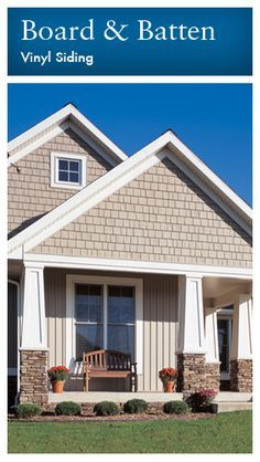 Tan Siding With Navy Shutters And White Trim Love