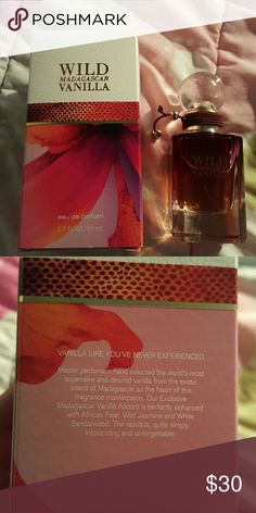 Wild Madagascar Vanilla perfume New! Fragrance notes on the back of box Bath and Body Works Other