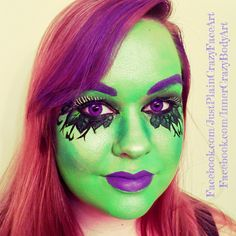 Monster High Amanita Nightshade  Character face paint face painting  Makeup art  Artist - Marie Sulcoski