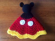 Mickey Mouse inspirado Lovey / manta de seguridad / Amigurumi de la muñeca / del ganchillo Mickey Mouse--hecho por encargo