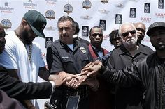 Rappers Gang Summit: Rally for Racial Unity at the Church of Scientology Community Center.