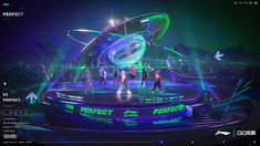 炫舞X李宁-星浪潮 on Behance Space Shows, Maxon Cinema 4d, Stage Set, Stage Design, Photography Backdrops, Graphic Design Art, Art Direction, Game Art, Branding Design