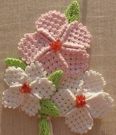 Flor em macramê para aplicação
