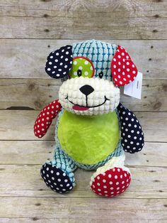 Baby Cubbies Personalized Stuffed Harlequin by LittleRedEmbroidery