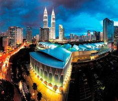 "The Kuala Lumpur Convention Center:Kuala Lumpur ,Malaysia:designed to be a ""city within a city"" Asia Expat, Oh The Places You'll Go, Places To Visit, Paradise On Earth, Unique Architecture, Convention Centre, Urban Landscape, Kuala Lumpur, Southeast Asia"