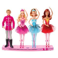 Can't keep her off the dance floor? She'll have endless hours of fun with this Barbie® Holiday Ballet 4-Pack set of dolls! Barbie in The Pink Shoes 4 Doll Giftset.