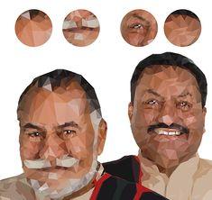 Low Poly - Wadali Brothers  #lowpoly #portrait #Pratikartz #vector #illustration #music #sufisinger #wadalibrothers