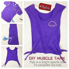 DIY Muscle tank - repurpose from old t-shirt
