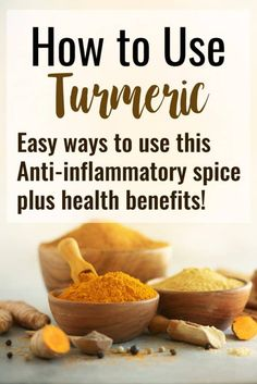 to Use Turmeric + Health Benefits - Ever wondered how to use turmeric? I'm sharing 5 easy ways, different recipes as well as the health benefits of turmeric! It's a powerful, tasty spice! Brain Healthy Foods, Brain Food, Healthy Recipes, Health Benefits Of Tumeric, Apple Benefits, Curcumin Benefits, Turmeric Curcumin, Turmeric Recipes, Healthy Food Delivery