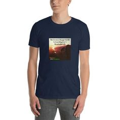 Motivational Short-Sleeve Unisex T-Shirt Motivational Quotes, Unisex, Tees, Sleeves, Mens Tops, T Shirt, How To Wear, Travel Destinations, Decorations