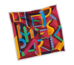 Hermes Perspective Cavalière 90cm Carre Scarf - Fall Winter 2014