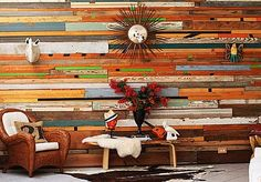 You can really stand out from the monotony of all house decors and create your own room with custom reclaimed wood for a unique DIY wall installation.