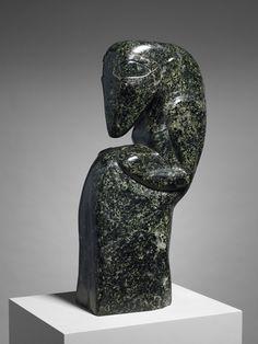 Jacob Epstein - Figura femminile, 1913, granito serpentino, 61 x 16,2 x 28,9 cm. Minneapolis Institute of Arts