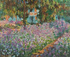Irises in Monet's Garden - Claude Monet 1900