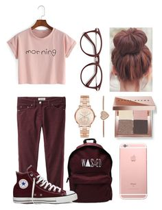 """Why So Classy"" by casualbandgirl ❤ liked on Polyvore featuring Étoile Isabel Marant, Bobbi Brown Cosmetics, Converse, Michael Kors, casual, Pink, teen and classy"