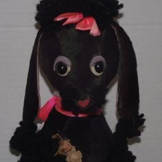 "Rare Vintage Madame Alexander Large Cloth 16"" Plush Poodle Circa 1960 from Stuck On Dolls       stuckondolls@gmail.com for $275.00"