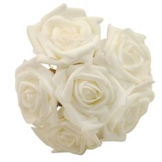 $3.09+free DIY-6-Head-Real-Touch-Latex-Rose-Flowers-For-wedding-Bouquet-Decoration-3-Colors