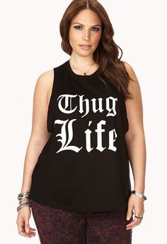 Thug Life Muscle Tee   FOREVER21