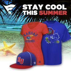 Stay cool and show your Jayhawk spirit all summer long! Check out the Kansas summer collection here!