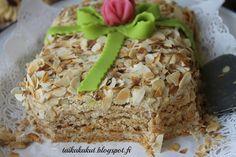 Heippa!   Tälläinen klassikko tuli tehtyä tyttären synttäreille. Saatiin sukulaisten kanssa tutustua uuteen leivonnaiseen :) Innostuin kaku...