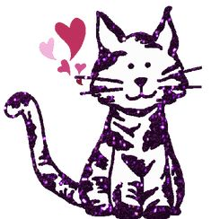 Happy Valentine's Day from Purple Cat Arts Crazy Cat Lady, Crazy Cats, Valentines Day Cat, Purple Cat, Cat Pin, Cat Toys, Minnie Mouse, Disney Characters, Fictional Characters