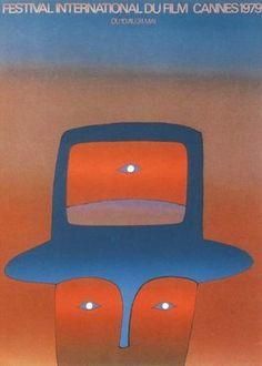 1979  ⎟  Affiche du 32e Festival de Cannes. Création originale de Folon.