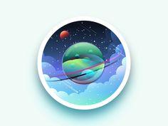 Space illustration 2 by Julien